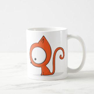 Big-eyed cat classic white coffee mug