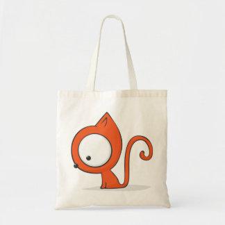 Big-eyed cat tote bag