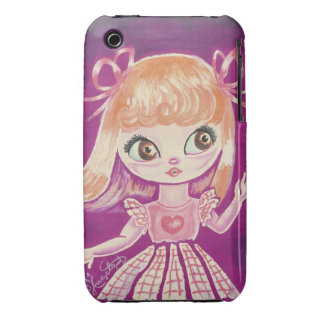 Big Eyed girl with orange hair and brown eyes iPhone 3 Covers