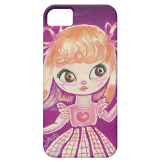 Big Eyed girl with orange hair and brown eyes iPhone 5 Covers