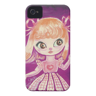Big Eyed girl with orange hair and brown eyes iPhone 4 Cover