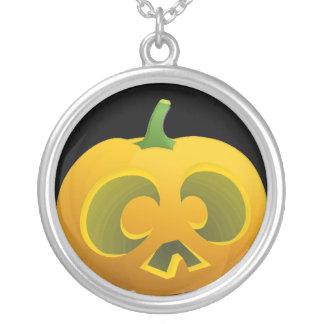 Big Eyed Jack O Lantern Necklace