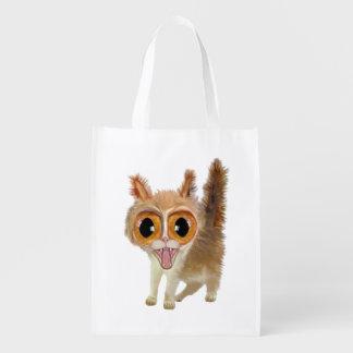 Big Eye'd Kitten Grocery bag
