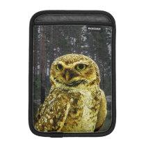 Big Eyed Owl in the Woods iPad Mini Sleeve