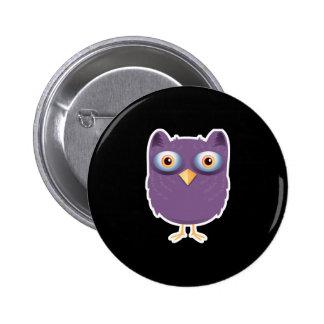 big eyed owl pinback button