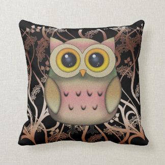 Big Eyed Owl Throw Pillow