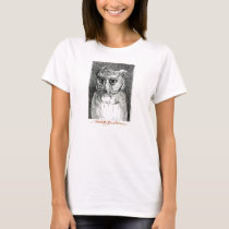 Big Eyed Owl Woman's Tee! T-Shirt