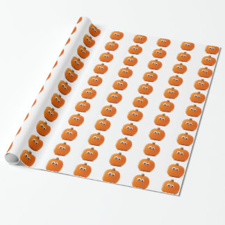Big Eyed Pumpkin Wrapping Paper