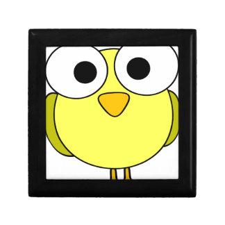 Big Eyed Yellow Bird Trinket Boxes