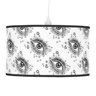 Big Eyes 3rd Eye Odd Hipster Graphic Art Design Hanging Lamp