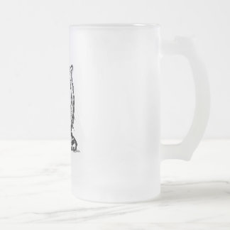 big eyes baby cat frosted glass beer mug