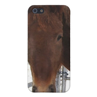 Big Eyes Red Tennessee Walking Horse - TWH iPhone 5 Case