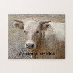 Big Eyes White Charolais Cattle - Western Puzzles
