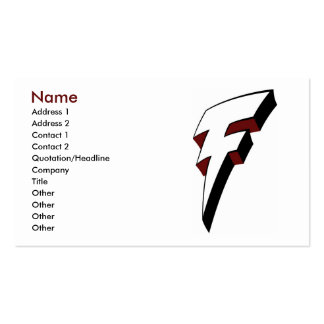 Big F Lightning Bolt Profile Card Template Double-Sided Standard Business Cards (Pack Of 100)