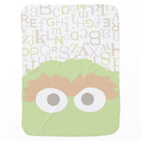 Big Face Baby Oscar the Grouch Swaddle Blankets
