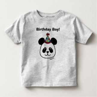 Big Face Panda Cartoon Birthday Tshirt