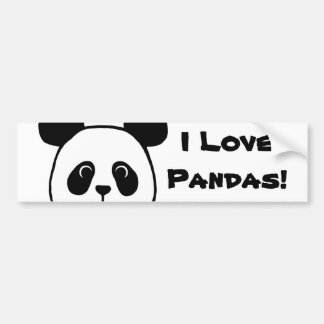Big Face Panda Cartoon Car Bumper Sticker
