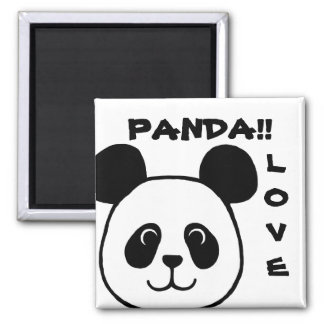 Big Face Panda Cartoon Magnet