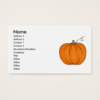 Big Fall pumpkin business cards for your text