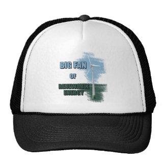 Big fan of renewable energy mesh hats
