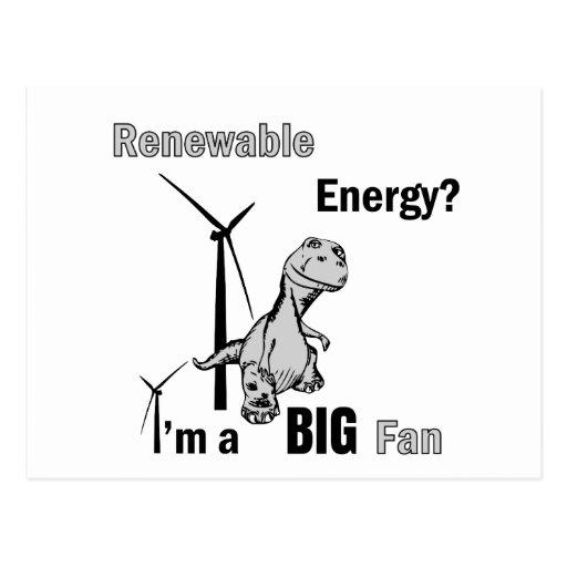 Big Fan of Renewable Energy Post Cards