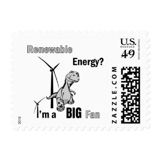 Big Fan of Renewable Energy Postage
