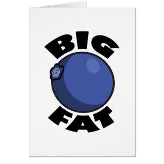 Big Fat Blueberry Media Schwag Greeting Card