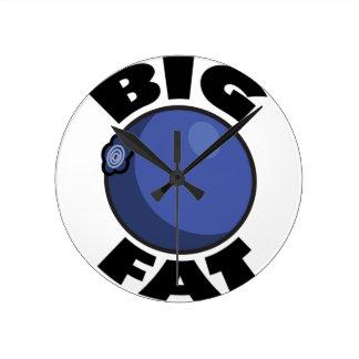Big Fat Blueberry Media Schwag Round Clocks