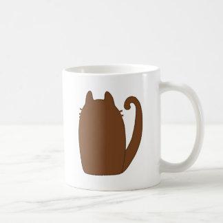 big fat cat rufus back classic white coffee mug