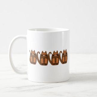 big fat cat rufus classic white coffee mug