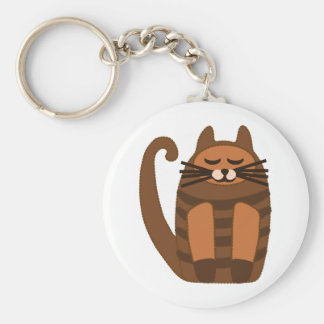 big fat cat rufus basic round button keychain