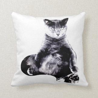 Big Fat Cat Throw Throw Pillows