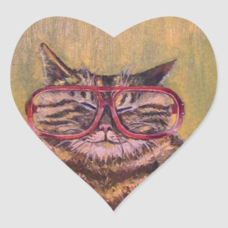 Big Fat Glasses Cat Sticker