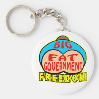 Big Fat Government Crushing Freedom Basic Round Button Keychain