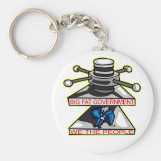 Big Fat Government Squeezing We The People Basic Round Button Keychain