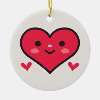 Big Fat Heart Ceramic Ornament