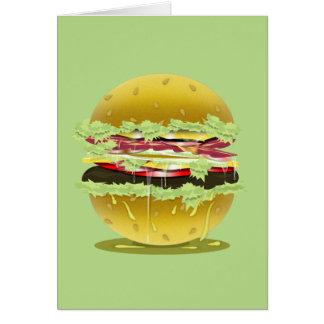 Big Fat Juicy Hamburger Greeting/Note Card