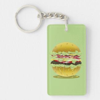 Big Fat Juicy Hamburger Keychain