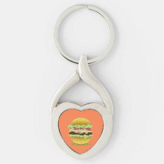 Big Fat Juicy Hamburger Twisted Keychain