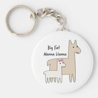 Big Fat Mama Llama Keychain