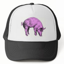 Big Fat Pink Pig Trucker Hat