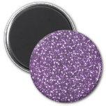 Big Faux Glitter Shiny Sparkles Purple Violet Magnets