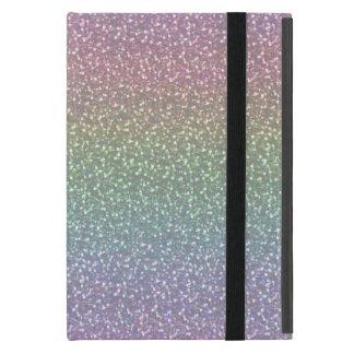 Big Faux Glitter Sparkles Shiny Rainbow Pearl iPad Mini Case