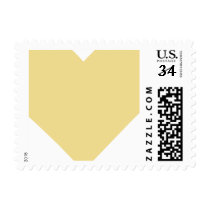 Big Faux Gold Heart Valentines Day Wedding Stamp