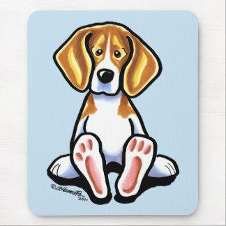 Big Feet Beagle Off-Leash Art™ Mouse Pad