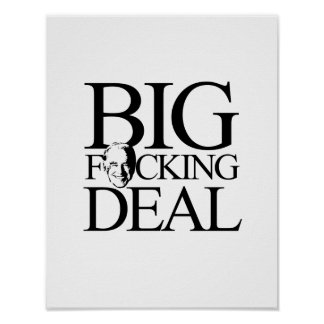 BIG FING DEAL - png Poster