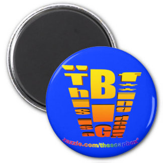 BIG Fing Deal Vertical Trans 2 Inch Round Magnet