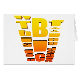 BIG Fing Deal Vertical Trans Card