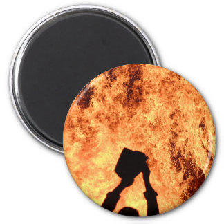 Big Fire, Small Pail 2 Inch Round Magnet