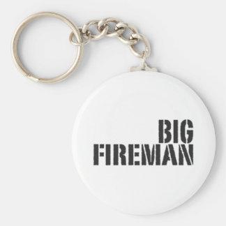 Big Fireman Basic Round Button Keychain
